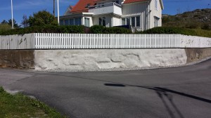 Renovering av staket och mur