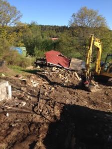 rivning av hus för nybyggnation 3